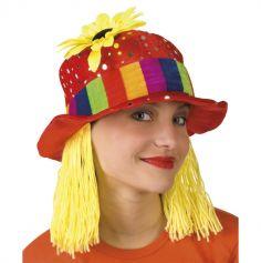 Chapeau de Femme Clown avec Tournesol