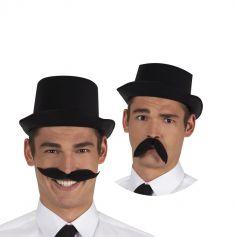 Moustache Flexible Noire