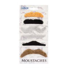 Set de 6 Moustaches Adhésives - Couleurs Naturelles