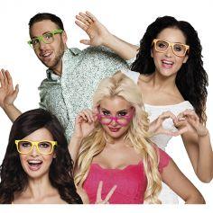 Set de 4 paires de lunettes fluo