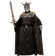 Masque Intégral en Latex avec Cape de Chevalier de la Mort