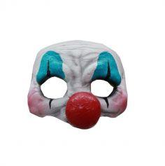 Demi-Masque en Latex de Clown Flippant