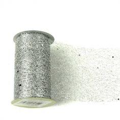 Ruban de table Glitter - Argent - 10 cm x 5 M