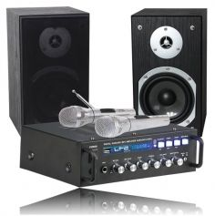 "Ensemble Karaoké ""Plug & Play"" 2 x 75W avec Bluetooth"