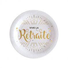 """10 Assiettes """"Vive la Retraite"""" - Elégant"""