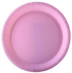 10 Assiettes en Carton Recyclable - 18 cm - Couleur au Choix