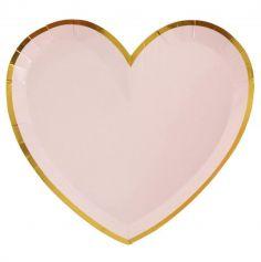 10 Assiettes en forme de coeur - Collection BB - Couleur au Choix