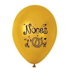 10 Ballons de Baudruche Noces d'Or