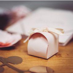 10 Boîtes arrondies - 7 cm - Couleur Rose Poudre
