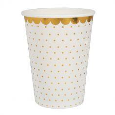10 Gobelets en carton - Collection BB - Couleur au Choix