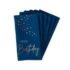 10 Serviettes en papier - Anniversaire Elégant - Couleur au Choix