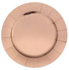 10 Sous-assiettes en carton brillantes - 33 cm - Couleur au Choix