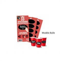 10 Stickers pour gobelets Personnalisables - Modèle au Choix
