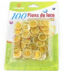 100 Pions de Loto Magnétiques - Couleurs au choix