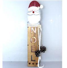 Décoration à poser Noël - Bois - Père Noël Illuminé