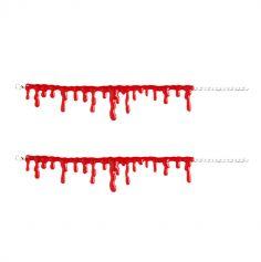 """Set de 2 bracelets """"Gouttes de sang"""""""