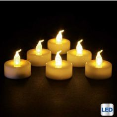 6 Bougies Led Blanches