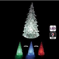 Décoration à Poser Noël - Sapin Lumineux avec Variation de Couleurs