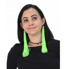 Boucles d'Oreilles Franges - Vert
