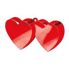 Poids à ballon - Cœurs entrelacés rouges