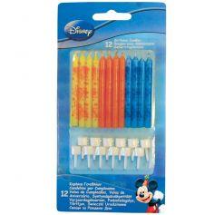 12 bougies d'anniversaire Mickey Disney®