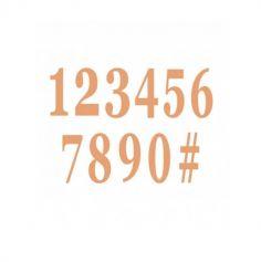 12 chiffres en carton avec adhesif couleur au choix | jourdefete.com