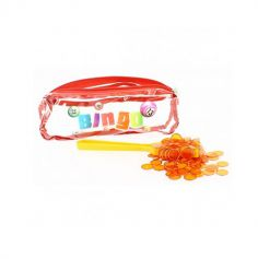 Kit 3 en 1 Bingo - Trousse + 1 Bâton Magnétique + 100 Pions - Orange