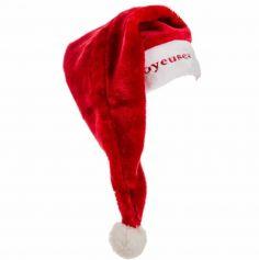Bonnet de Père Noël Géant et son texte brodé