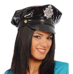 Casquette de Policière Vinyle Femme