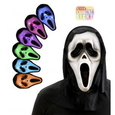 Masque Scream Lumineux avec Capuche