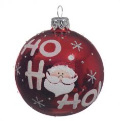 Boule de Noël en Verre - Ho Ho Ho - Rouge
