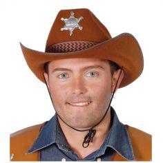 Chapeau de shérif pour adulte - Marron