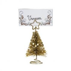 Marque Place - Noël - Sapin Métal avec Sequins - Or