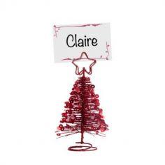 Marque Place - Noël - Sapin Métal avec Sequins - Rouge