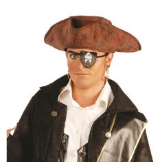 Chapeau de Pirate Marron Homme