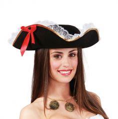 Chapeau de Capitaine Pirate Femme