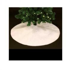 Tapis à sapin rond - Blanc Pailletée - Ø 100 cm