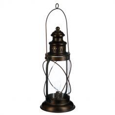 Lampe Tempête Vintage en Verre