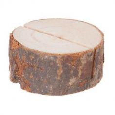 Porte-nom rondin en bois / Lot de 4