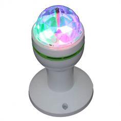Micro effet de lumière rotatif 3 LED avec support