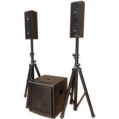 """Système de sonorisation tri-phonique 2,1 10""""/25CM 800W"""