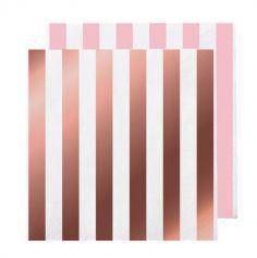serviettes-papier-rose-gold | jourdefete.com