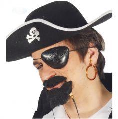 Cache-oeil et boucle d'oreille de pirate