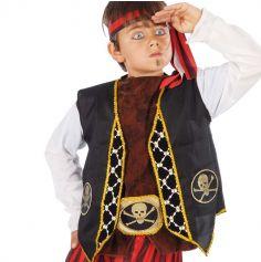 Gilet et Ceinture de Pirate Enfant - Taille Unique