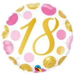 Ballon metallise 46 cm diametre - 18 ans - ballon geant gonflable a l'helium | jourdefete.com