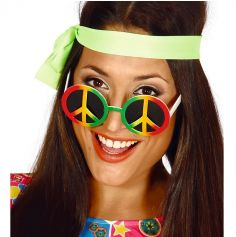 "Lunettes Hippie ""Peace and Love"" Multicolore"
