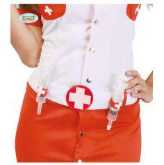Ceinture d'infirmière avec 2 seringues