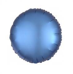 Ballon Hélium Rond Satiné Bleu Azur