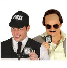 Collier avec plaque de policier