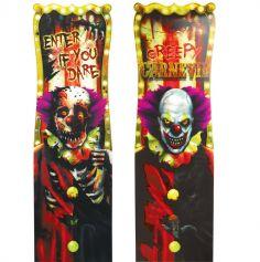 Panneau de Décoration Clown Démoniaque